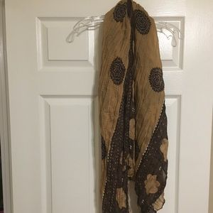 Brown, Tan, and Cream Scarf